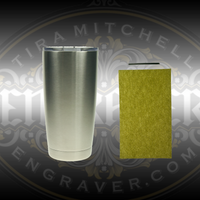 Hand Engrave a 20 Ounce Stainless Steel Tumbler with this Engraving Kit. Includes Tumbler, Lid, HSS Graver and 1/4 Sheet Polishing Paper from Engraver.com