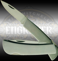 Stainless Steel 3.5 inch (closed) knife perfect for engraving