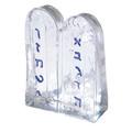 Alef Bet Glass Paper Weight