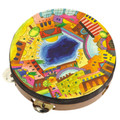 Emanuel Hand Painted Leather Tambourine