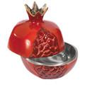 Aluminum Pomegranates Honey Dish (Large) - Red (EM-LPO2)