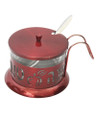 Honey Dish Aluminum Red  (HD-87364)