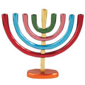 Anodize Chanukah Menorah Colorful (EM-HMB3)
