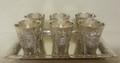 Liquor Set 6 Cups & Tray Jerusalem Design (SHB-A760100A)