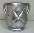 Acrylic Washing Cup Quilted look Silver (WC-AVI576S)