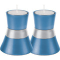 Anodized Aluminum Candlesticks Blue Small (EM-CMS2)