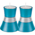 Anodized Aluminum Candlesticks Turquoise Small (EM-CMS4)