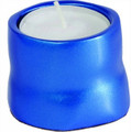 Anodized Aluminum Tea Light Single Candle Holder Blue (EM-CSB3)