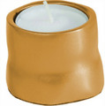 Anodized Aluminum Tea Light Single Candle Holder Gold (EM-CSB5)