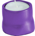 Anodized Aluminum Tea Light Single Candle Holder Purple (EM-CSB8)