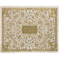 Full Embroidered Challah Cover Silver & Gold (EM-CMC3)