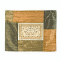 Patched Embroidered Challah Cover Shades of Gold Papercut (EM-PCC5)