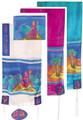 "Yair emanuel Hand-Painted Silk Tallit  - Miriam and Debora 21"" x 77"" TS-2"
