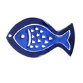 Aluminum Trivet Two Piece Set Fish Shape Blue (EM-MHDC2)