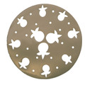 Aluminum Trivet Pomegranate Round Gold (EM-MHPC-5)