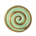 Aluminum Trivet Two Piece Swirl - Gold and Mint Green (EM-MHDC3B)