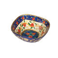 Paper Mache Bowl Pomegranate White SQUARE SMALL (EM-PM-5B)