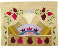 Emanuel Raw Silk Tallit Bag Pomegranate Gold (EM-TBA-11)
