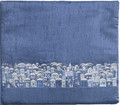 Blue Tefillin Bag Jerusalem (EM-TBS-8B+C)