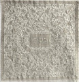 Embroidered Matzah Cover- Oriental Silver (EM-MMC4)