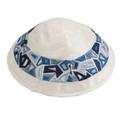 Embroidered Kippah BLUE (EM-YME-10B)
