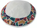 Embroidered Kippah - Geometrical Multi-colors (EM-YME-10ML)