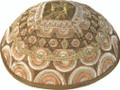 Embroidered Kippah - Magen David Gold (EM-YME-11G)
