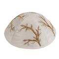 Embroidered Kippah GOLD (EM-YME-7G)