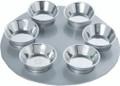 Aluminum Seder Plate- Silver (EM-SPZ-1)