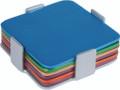 Set of 6 Aluminum Coasters - Multi Color (EM-COM-2)