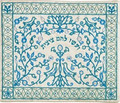Embroidered Tallit Bag Paper cut BLUE (EM-TBC-17B)