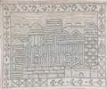 Hand Embroidered Afikoman Bag Jerusalem Silver (EM-AFE2)