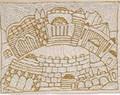 Hand Embroidered Afikoman Bag Jerusalem Gold (EM-AFE3)