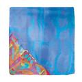 Emanuel Painted Jerusalem Square Silk Scarf Blue 35'x35' (EM-PSS)