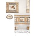 Tallit- Full Embroiderey Pomegranates- Gold (EM-TAH3G)