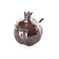 Silverplate Honeydish Pomegranate Shape- with Spoon (HD-P077P)