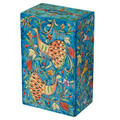 Yair Emanuel Rectangular Tzedakah (Charity) Box -peacocks TZS-5
