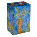 Yair Emanuel Rectangular Tzedakah (Charity) Box -The Seven Species TZS-7