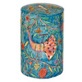 Yair Emanuel Round Tzedakah (Charity) Box -peacocks TZR-3