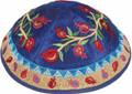 Emanuel Embroidered Kippah, Pomegranates-- Multicolor (EM-YME13M)