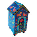Yair Emanuel House design Tzedakah (Charity) Box -Birds and Flowers TZH-3