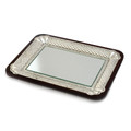 "Wood and Mirror Tray 12"" x 15"" (CP-X021)"