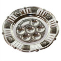 Silverplate Round Pesach Seder Plate(P-P436)