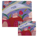 Raw Silk Matzah Cover -Crown Purple (EM-MAS31)