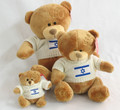 Brown Teddy Bear with Israel Flag on White Sweater (79865, 21713, 21720)