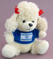 White Poodle with Israeli Flag on Blue Sweater (47088)