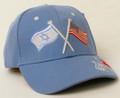 Light Blue Cap - Israeli and American Flag (I-IC#23)