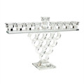 "Crystal Menorah w/  Rings-- 14""h (M-X2208G)"