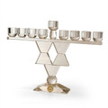 "Crystal Menorah w/ Magen David 14"" x 10"" (M-X770)"
