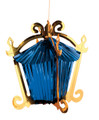 Chinese House Foil Hanging Decoration - Pack of 12 - Blue  (71197 GB)